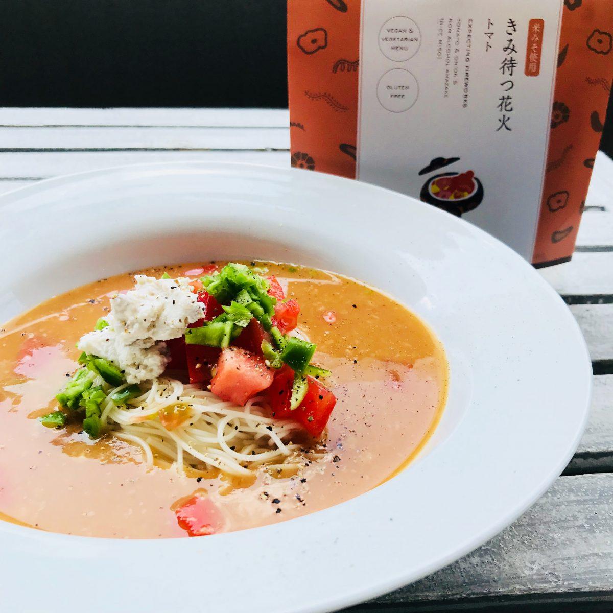 きみ待つ花火 冷製スープパスタ(素麺)