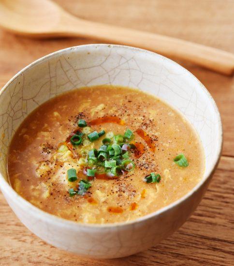 溶き卵でおかずスープに・きみ待つ花火