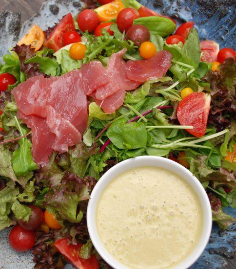 整える緑のドレッシング風 海鮮サラダ