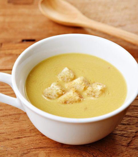 玄米クルトンでもちもち食感のスープ・なごみの黄