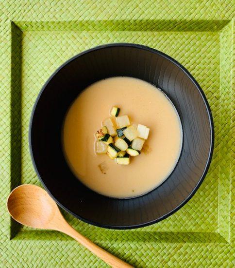 大根とスッキーの食感楽しいスープ・香るスズシロ