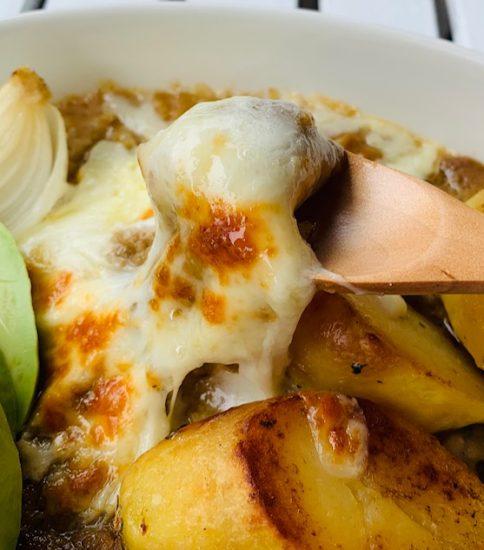 簡単チーズ焼きカレードリア・スパイシーな緑豆