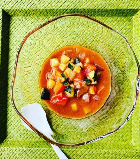 具沢山冷製スープ・きみ待つ花火