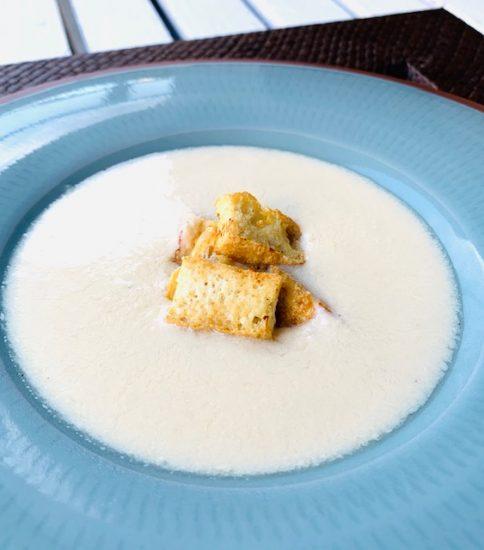 カリカリお揚げトッピングで植物性タンパク質アップ↑・豆乳と大豆の白いみそポタ