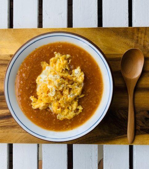 スクランブルエッグ入りで食べ応えアップ・優しいトマト(ココぞリゾット)